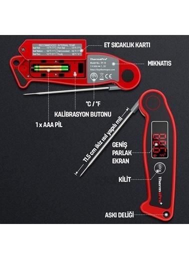 Thermopro Tp19 Su Geçirmez Katlanabilir Gıda Pişirme Termometresi Renkli